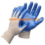 Перчатка работы отделки пены нитрила
