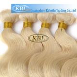 613# cabelo dourado europeu, extensão do cabelo humano