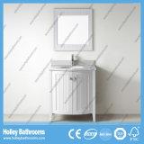 Vanità classica compatta di vendita calda della stanza da bagno di legno solido (BV205W)
