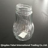 Lidの500ml Diagonal Pattern Glass Storage Jar