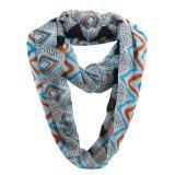 Sommer-Unbegrenztheits-Schal der Dame-Fashion Grid Printed Polyester Chiffon- (YKY1105)