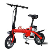Commercio all'ingrosso motorino piegante elettrico della bici da 12 pollici con l'indicatore luminoso del LED