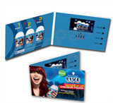 Брошюра изготовленный на заказ экрана LCD видео- для рекламировать