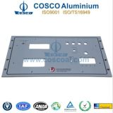 Extrusão de alumínio personalizada/painel frontal de alumínio para a eletrônica com fazer à máquina do CNC