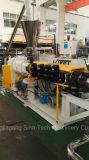 Máquina de granulación plástica del PVC del sólido duro con el estirador de tornillo gemelo