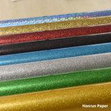 O vinil da transferência térmica do Glitter/plutônio /PVC baseou o vinil para o t-shirt & a outra tela