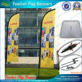 広告するハングの旗の正方形の版ベース飛行の旗(M-NF04F06025)を