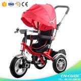 Trike Multifunctional para o miúdo/3 em 1 triciclo do Pram do bebê do carrinho de criança/carrinho de criança Tricyle do bebê com barra do impulso