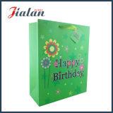 Het groene Ontwerp van de Verjaardag van de Kleur past Cmyk aan maakte de Afgedrukte Zak van het Document
