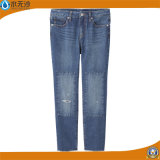 De Broeken van de Jeans van dame Fashion Stretch Denim Straight Katoen