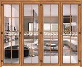 Portello di piegatura di alluminio di legno della ciliegia di alta qualità