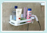 Cremalheira de canto impermeável Multifunction do armazenamento da parede do banheiro da prateleira