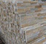 Pietra gialla popolare della pila della pietra della coltura del quarzo per il rivestimento della parete