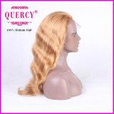 Peluca delantera brasileña del pelo recto de la peluca del cordón del color rubio largo