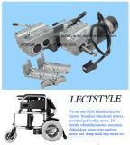 24V motor dejado y a la derecha aplicado con brocha de 250W del sillón de ruedas eléctrico del eje del motor y del sillón de ruedas de la potencia