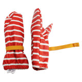 PU Waterproof Rain Mitten/Rain Glove/Raincoat Red нашивки с Buttom для Baby/Chilid