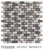 Color mezclado Naturaleza mosaico piedra para el azulejo de la pared del fondo de Televisión (FYSSD059)