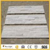Piedra blanca pura natural de la cultura de la cuarcita para la decoración del revestimiento de la pared