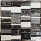 목욕탕 벽 (M855125)를 위한 새로운 디자인 알루미늄과 유리 모자이크