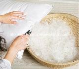 Oreiller en coton plume de couleur blanche