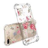 Impresión floral diseño claro caja de plástico transparente con TPU de parachoques para el iPhone 7 Plus