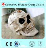 Decorazione domestica di Halloween del cranio della testa del portacenere terribile della resina