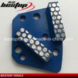 O ponto segmenta a sapata de moedura da barra dobro do diamante para o moedor do assoalho do Trapezoid