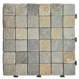 Azulejo de suelo movible de la pizarra del mosaico natural de la piedra