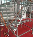 Стальной трап шага Q235 для работников на конструкции ремонтины