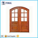 Portes en bois d'entrée principale avec cadre en bois pour appartement