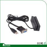 Leitor de cartão programável de 3 trilhas mini para suportar o cartão magnético, com USB ou série