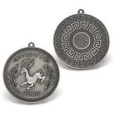 Medalha de prata antiga do metal da promoção