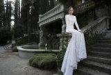 Robe de mariage de sirène de 2017 chemises de lacet français longue (Dream-100106)