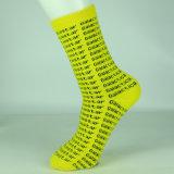 Носки платья плоского хлопково-желтого Knit основные