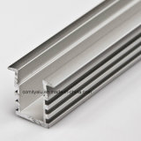 Perfil de aluminio anodizado natural para el sistema del radiador de la iluminación del LED