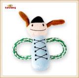 Juguete de la cuerda del perro de la muñeca de los músicos del juguete de la felpa del animal doméstico (KB0031)