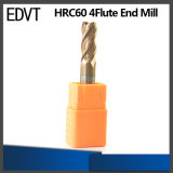 Utensile per il taglio del laminatoio di estremità dell'acciaio di tungsteno di CNC 60HRC 4flute di Edvt