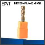 Edvt CNC 60HRC 4flute 텅스텐 강철 끝 선반 절단 도구