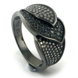 Черное кольцо с Gemstone (R9789)