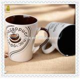 Tasse en céramique de cappuccino chinois d'articles promotionnels avec l'impression d'écran en soie