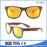 Moderner Spiegel-flache Objektiv Browm Rahmen-Sonnenbrillen für Unisex