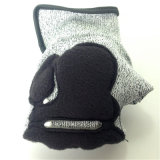 Überzogene Hppe/Lycra Handschuhe des Nitril-, mit TPR&Sponge&Self-Aufkleber