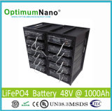 Batería de litio recargable 48V 1000ah para el sistema de energía solar/de la red