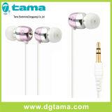 Auriculares estereofónicos do auscultadores de Earbuds da em-Orelha do fone de ouvido 3.5mm com Mic