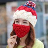 Шлем Beanie зимы усика бороды вязания крючком Knit руки промотирования