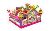 キャンデーの膨脹可能な運動場、甘い家弾力がある膨脹可能なFuncity