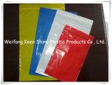 Weißer transparenter mit Reißverschluss verpackenplastikbeutel