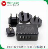 adaptateur gauche multi de chargeur de 25W USB pour le port du téléphone mobile 4