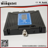 Repetidor dual de la señal del teléfono celular de la venda 900/2100MHz 2g 3G 4G con la antena