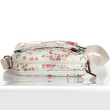イギリス様式防水PVC花パターンキャンバスの女性袋(23229)